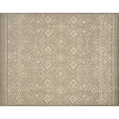 Pangle Hand-Knotted Beige Area Rug Rug Size: Rectangle 4' x 6'