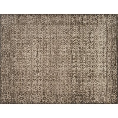 Java Hand-Knotted Brown Area Rug Rug Size: 96 x 136