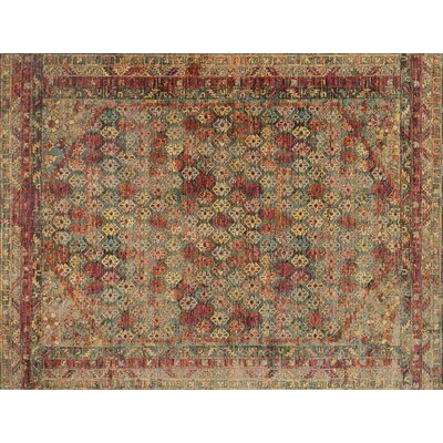 Javari Slate/Berry Area Rug Rug Size: Rectangle 53 x 74