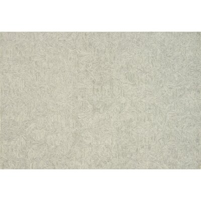 Darryl Hand-Hooked Mist Area Rug Rug Size: Rectangle 5 x 76