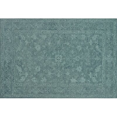 Darryl Hand-Hooked Teal Area Rug Rug Size: Rectangle 36 x 56