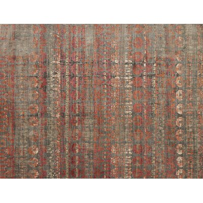 Zanders Gray/Sunrise Area Rug Rug Size: Rectangle 26 x 4