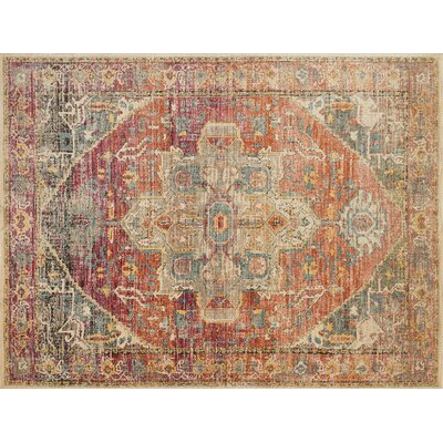 Javari Yellow/Orange Area Rug Rug Size: 37 x 52