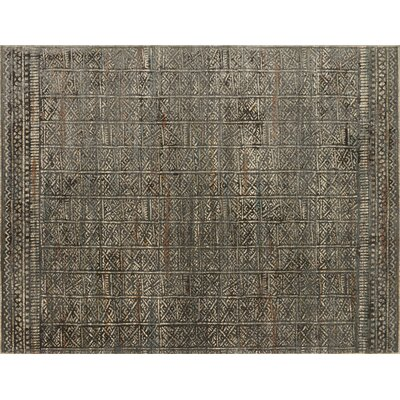 Zanders Charcoal/Silver Area Rug Rug Size: Rectangle 37 x 52