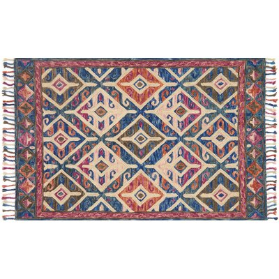 Rana Hand-Hooked Denim Area Rug Rug Size: Rectangle 5 x 76