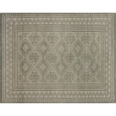 Pangle Hand-Knotted Sage Area Rug Rug Size: Rectangle 56 x 86