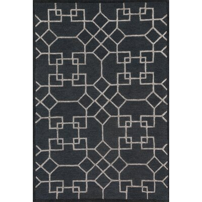 Kirkbride Charcoal/Silver Area Rug Rug Size: Rectangle 5 x 76