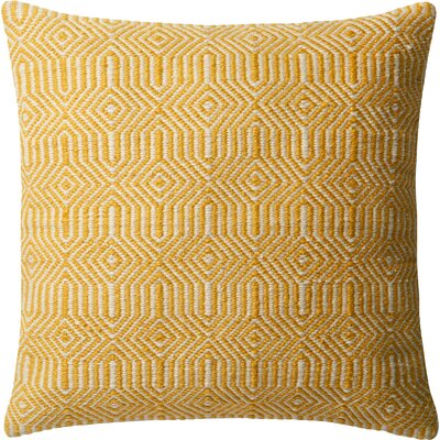Washam Outdoor Throw Pillow Color: Yellow
