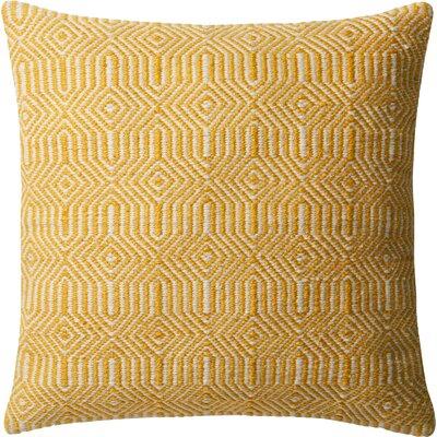 Outdoor Throw Pillow Color: Yellow