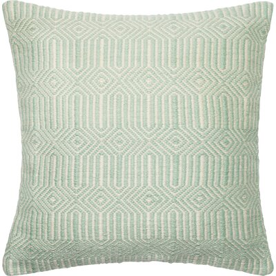 Outdoor Throw Pillow Color: Aqua/Ivory