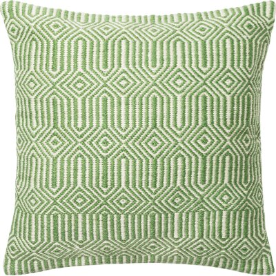 Outdoor Throw Pillow Color: Green/Ivory