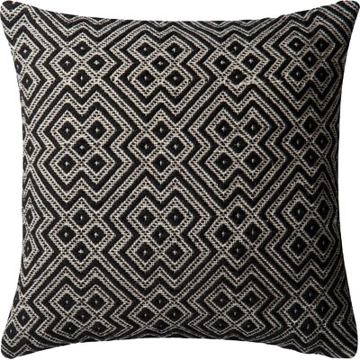 Indoor/Outdoor Throw Pillow Color: Black
