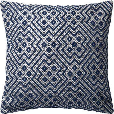 Damron Indoor/Outdoor Throw Pillow Color: Navy