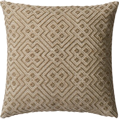 Indoor/Outdoor Throw Pillow Color: Natural