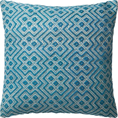 Damron Indoor/Outdoor Throw Pillow Color: Turquoise