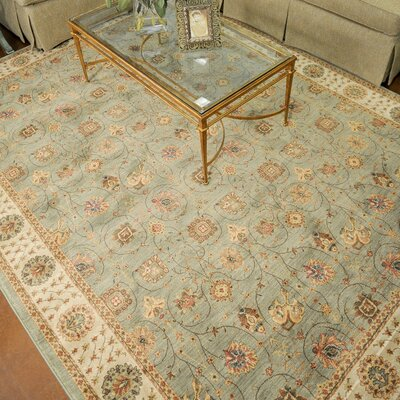 Stanley Green/Brown Area Rug Rug Size: 52 x 77