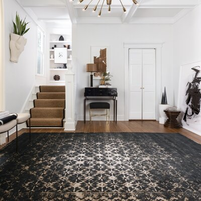 Journey Black Area Rug Rug Size: 33 x 53