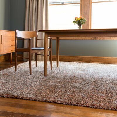 Callie Shag Hand-Tufted Brown Area Rug Rug Size: 93 x 13