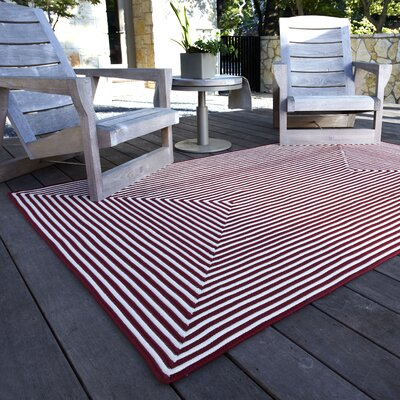 In/Out Hand-Woven Red Indoor/Outdoor Area Rug Rug Size: 5 x 76