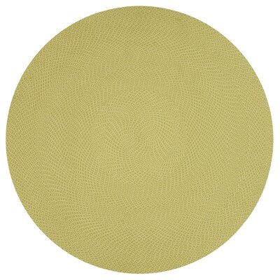 Daniell Hand-Woven Lime Indoor/Outdoor Area Rug Rug Size: Rectangle 36 x 56