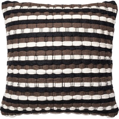 Trym Throw Pillow Color: Brown/Black