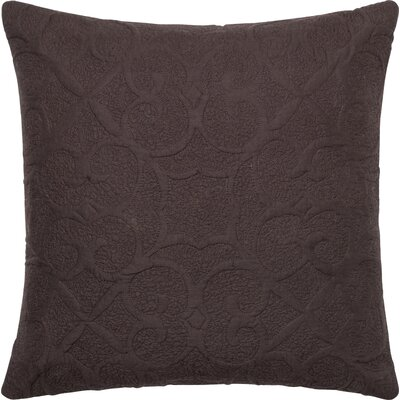 Cotton Throw Pillow Color: Dark Brown/Chocolate