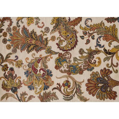 Willow Hand-Tufted Ivory Area Rug Rug Size: 5 x 76