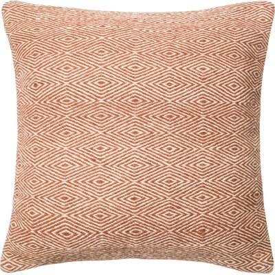 Wool/Cotton Throw Pillow Color: Red