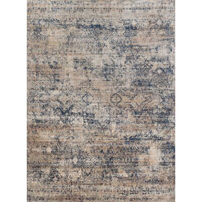 Postale Blue/Mist Blue Area Rug Rug Size: Rectangle 53 x 78