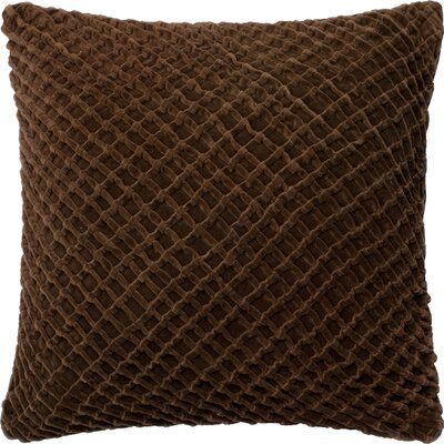 Potterville Throw Pillow Cover Color: Brown