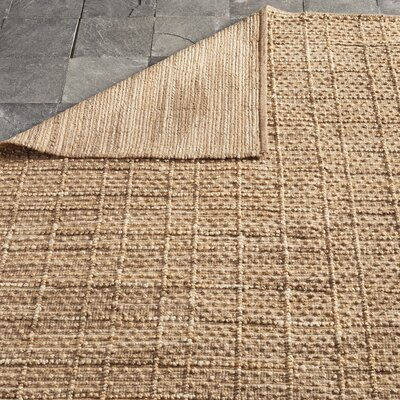 Beacon Hand-Woven Brown Area Rug Rug Size: 23 x 39