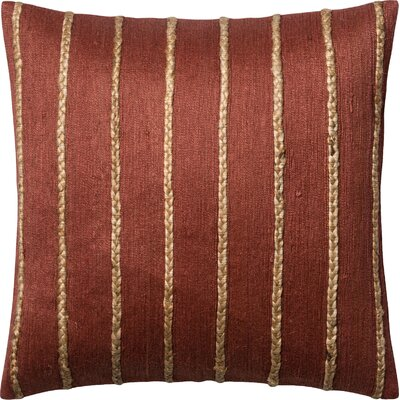 Throw Pillow Color: Rust/Steel