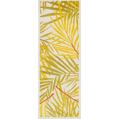 Laudenslager Ivory/Yellow Area Rug Rug Size: Rectangle 18 x 5