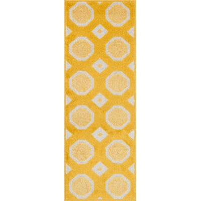 Terrace Lemon/Ivory Area Rug Rug Size: Rectangle 18 x 5