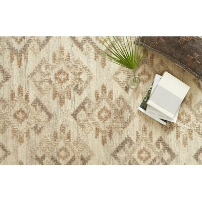 Akina Hand-Woven Ivory/Beige Area Rug Rug Size: Rectangle 5 x 76