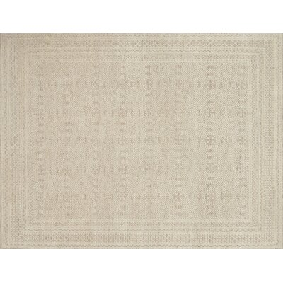 Parkerson Hand-Knotted Gray/Ivory Area Rug Rug Size: Rectangle 10 x 14