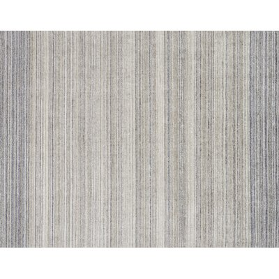 Fienley Hand-Loomed Silver/Blue Area Rug Rug Size: Rectangle 56 x 86