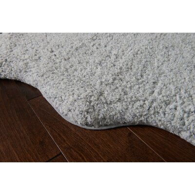 Ritter Hand-Tufted Gray/White Area Rug Rug Size: Rectangle 3 x 5