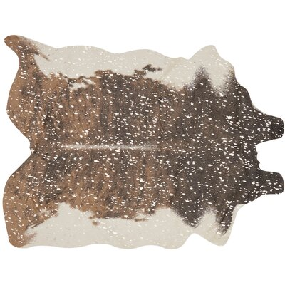 Duran Walnut/Champagne Area Rug Rug Size: Rectangle 62 X 8