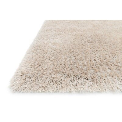 Soud Hand-Tufted Beige Area Rug Rug Size: Rectangle 36 x 56