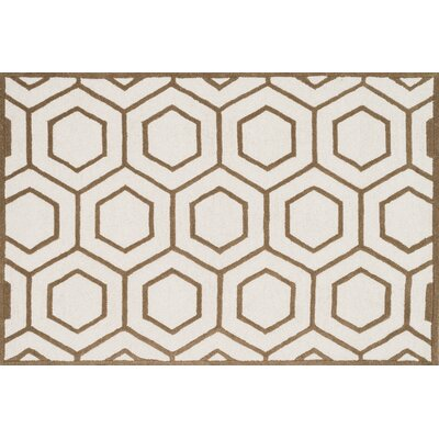 Celine Ivory/Taupe Area Rug Rug Size: Square 7'6