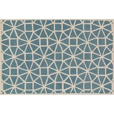 Celine Blue/Ivory Area Rug Rug Size: Square 76