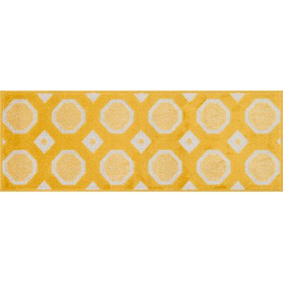 Terrace Lemon/Ivory Area Rug Rug Size: 25 x 39