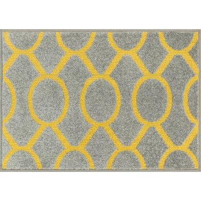Terrace Gray/Citron Area Rug Rug Size: 25 x 39