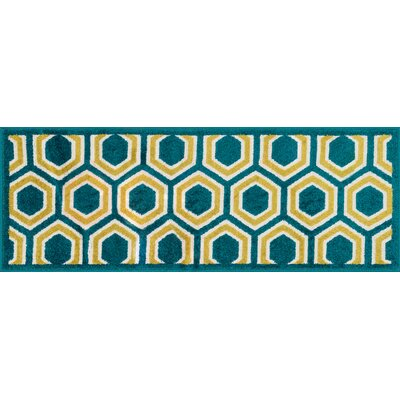 Laudenslager Green/Yellow Area Rug Rug Size: Rectangle 18 x 5