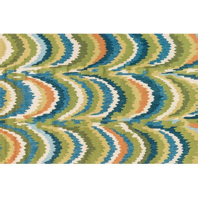 Olivia Hand-Woven Green/Blue Area Rug Rug Size: Rectangle 23 x 39