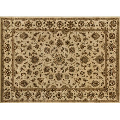 Yorkshire Hand-Tufted Ivory/Brown Area Rug Rug Size: Round 710