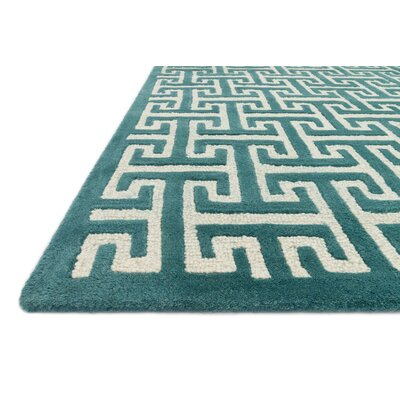 Brighton Hand-Tufted Teal Area Rug Rug Size: 5 x 76