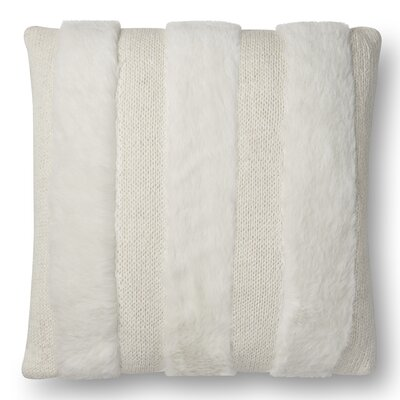 Serrano Throw Pillow Fill Material: Down/Feather, Color: Gray