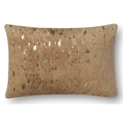 Brandt Lumbar Pillow Cover Color: Mahogany